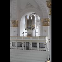 Hamburg, St. Michaelis, ''Michel'' (Krypta-Orgel), Carl-Philipp-Emanual-Orgel auf der Südempore