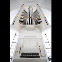 Hamburg, St. Michaelis, ''Michel'' (Krypta-Orgel), Carl-Philipp-Emanual-Orgel mit Spieltisch