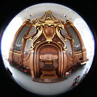 Hamburg, St. Michaelis, ''Michel'' (Krypta-Orgel), Hauptorgel Fisheye