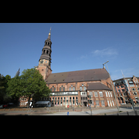 Hamburg, St. Katharinen (Chororgel), Seitenansicht mit Katharinenkirchhof