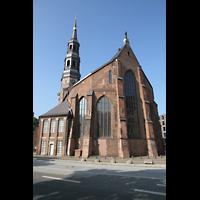 Hamburg, St. Katharinen (Chororgel), Außenansicht auf den Chor und Turm