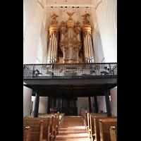 Hamburg, St. Katharinen (Chororgel), Hauptorgel mit darunterliegender Chor- und Orchester-Empore
