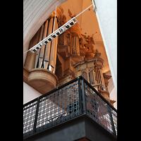 Hamburg, St. Katharinen (Chororgel), Hauptorgel vom Seitenschiff aus gesehen