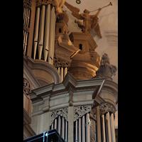 Hamburg, St. Katharinen (Chororgel), Rückpositiv und Hauptwerk von der Seite