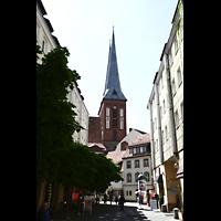 Berlin (Mitte), Museum Nikolaikirche, Seitlicher Blick von