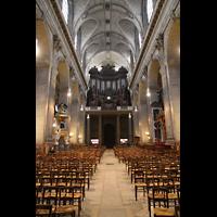 Paris, Saint-Sulpice (Chororgel), Innenraum in Richtung Orgel