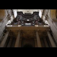 Paris, Saint-Sulpice (Hauptorgel), Orgelempore mit Säulen, perspektivisch