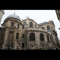Paris, Saint-Sulpice (Hauptorgel), Gesamtansicht von außen, Chorraum und Seite