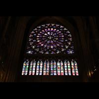 Paris, Cathédrale Notre-Dame (Hauptorgel), Fensterrosette im südlichen Querhaus
