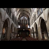 Paris, Saint-Séverin, Innenraum in Richtung Orgel