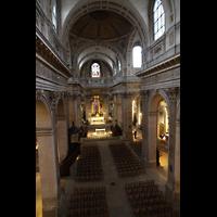 Paris, Saint-Louis en l'Ile (Hauptorgel), Blick von der Empore in die Kirche