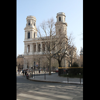 Paris, Saint-Sulpice (Chororgel), Fassade und Kirchplatz