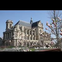 Paris, Saint-Eustache, Ansicht vom Jardin Nelson Mandela aus