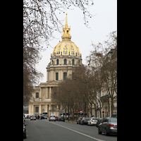 Paris, Saint-Louis des Invalides (Cathédrale aus Armes), Ansicht von der Avenue de Lowendahl