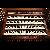 Denver (CO), St. John's Episcopal Cathedral (Main Organ), Manuale und Wippschalter für Koppeln