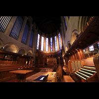 Denver (CO), St. John's Episcopal Cathedral (Main Organ), Spieltisch und Orgelprospekt