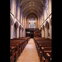 Denver (CO), St. John's Episcopal Cathedral (Main Organ), Innenraum in Richtung Rückwand