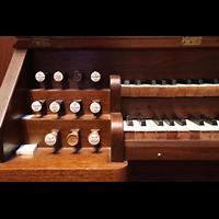 Denver (CO), St. John's Episcopal Cathedral (Main Organ), Linke Registerstaffel der kleinen Orgel