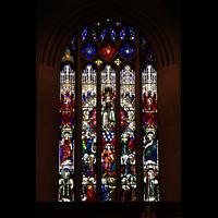 Denver (CO), St. John's Episcopal Cathedral (Main Organ), Großes Buntglasfenster an der Rückwand