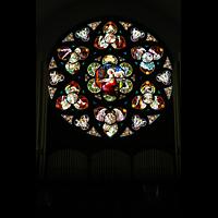 Denver (CO), Cathedral Basilica of the ImmaculateConception, Rosette über der Orgel