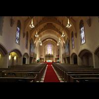Denver (CO), Montview Boulevard Presbyterian Church, Innenraum in Richtung Chor