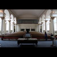 Denver (CO), First Baptist Church, Innenraum in Richtung Rückwand