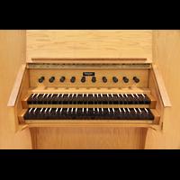 Boulder (CO), University, Macky Auditorium (Main Organ), Spieltisch der Übungsorgel
