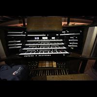 Boulder (CO), University, Macky Auditorium (Main Organ), Spieltisch der Orgel im Auditorium
