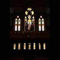Denver (CO), Trinity United Methodist Church, Rückseitige bunte Fenster