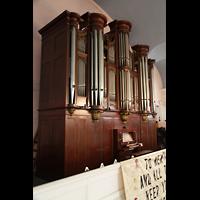 New York (NY), St. Paul's Chapel (Trinity Parish), Orgel seitlich