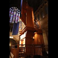 New York (NY), St. Thomas (Kleine Orgel), Seitenansicht der kleinen Orgel, hinten die Pedalpfeifen