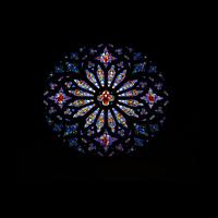 New York (NY), Episcopal Cathedral of St. John the Divine, Große Rosette an der Westwand (Pfeifen der State Trumpet fehlen)