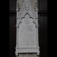 New York (NY), Episcopal Cathedral of St. John the Divine, Widmungsstein für die Orgel