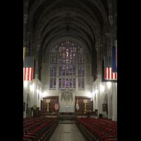 West Point (NY), Military Academy Cadet Chapel, Chorraum mit den beiden Haupt-Orgelgehäusen