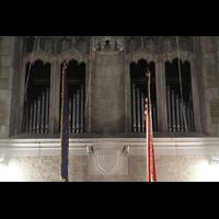 West Point (NY), Military Academy Cadet Chapel, Pfeifen der Nave Organ in den Seitenschiff-Bögen