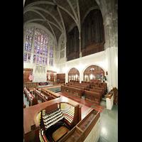 West Point (NY), Military Academy Cadet Chapel, Spieltisch mit Blick auf die Right Chancel Organ