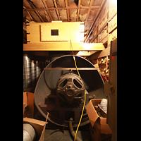 West Point (NY), Military Academy Cadet Chapel, Westlicher Gebläseraum mit 60 PS Spencer Orgoblo (rd. 850 Kubikmeter/Minute)