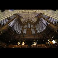 New York (NY), St. Patrick's Cathedral, Orgelprospekt vom Spieltisch aus