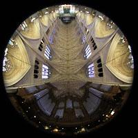 New York (NY), St. Patrick's Cathedral, Orgel und Gesamtansicht der Kathedrale