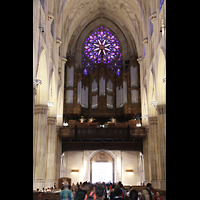 New York (NY), St. Patrick's Cathedral, Orgelempore