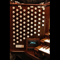 New York (NY), First Presbyterian Church - Chapel Organ, Linke Registerstaffel