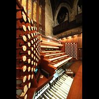 New York (NY), First Presbyterian Church - Main Organ, Spieltisch mit Blick zur Orgel