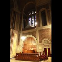 New York (NY), St. Bartholomew's Episcopal Church, Pfeifen an der Südempore über dem Spieltisch