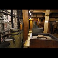 Philadelphia (PA), Macy's (''Wanamaker'') Store, Spitze des Hauptpedals mit Teilansicht der Roll Cymbal