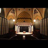 Philadelphia (PA), Irvine Auditorium (''Curtis Organ''), Innenraum mit Orgel und Spieltisch