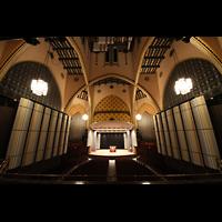 Philadelphia (PA), Irvine Auditorium (''Curtis Organ''), Blick von der gegenüberliegenden Empore in den Raum