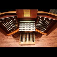 Philadelphia (PA), Irvine Auditorium (''Curtis Organ''), Spieltisch von oben