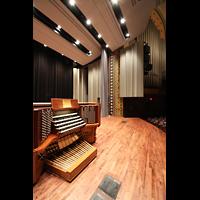 Philadelphia (PA), Irvine Auditorium (''Curtis Organ''), Spieltisch und Orgelprospekt