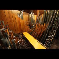 Philadelphia (PA), Irvine Auditorium (''Curtis Organ''), Schwellwerk mit Pfeifen des Bourdon 16' im Hintergrund