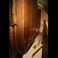 Philadelphia (PA), Irvine Auditorium (''Curtis Organ''), Pedal Open Wood 32' auf dem Great/Swell Level; im Vordergrund das BBBB